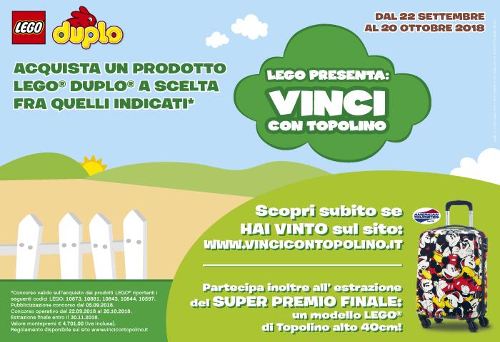 Lego: Vinci con Topolino un trolley Samsonite