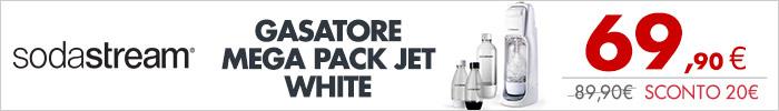 SODASTREAM Mega Pack Jet WHITE a 69,90€