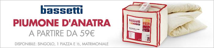 BASSETTI Piumone d'anatra a partire da 59€