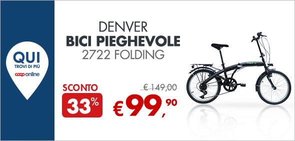 Denver Bici Pieghevole 2722 Folding a 99€
