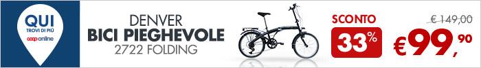 Bici pieghevole a 99,90 €