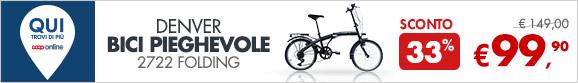 Bici pieghevole a 99,90€