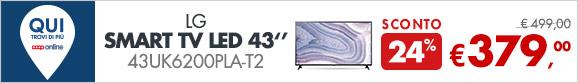 LG Smart TV Led 43'' a 379€