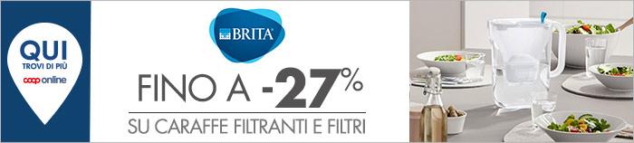 Brita: caraffe filtranti e filtri fino a -27%