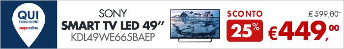 Sony Smart TV Led 49'' a 449€