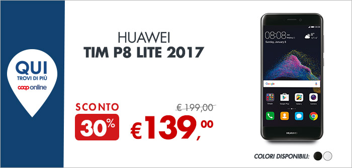 Huawei Tim P8 Lite a 139€