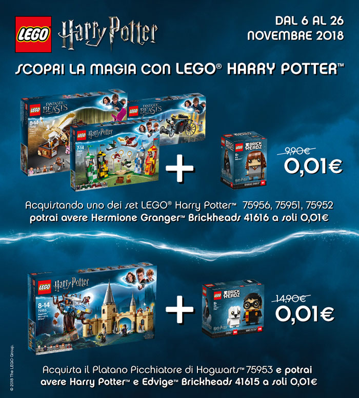Scopri la magia con Lego Harry Potter