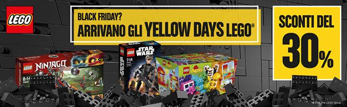 Arrivano gli Yellow Days Lego! Sconti del 30%