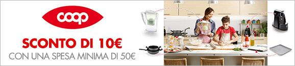 Coop sconto di 10€ con una spesa minima di 50€