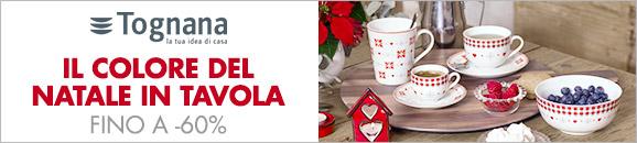 Tognana il colore del Natale in tavola fino a -60%