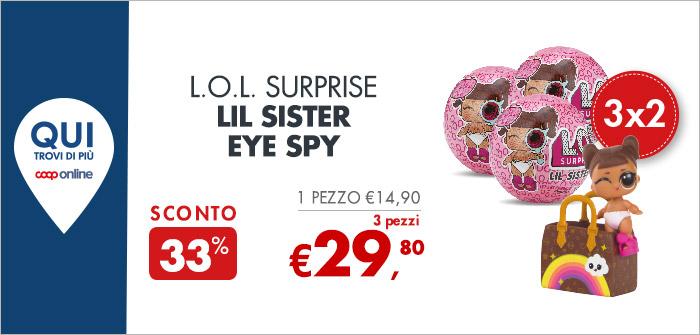 L.O.L. Surprise LIL Sister Eye Spy 3 pezzi a 29,80€