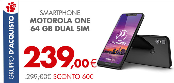 Smartphone Motorola One 64 GB Dual Sim a 239,00€